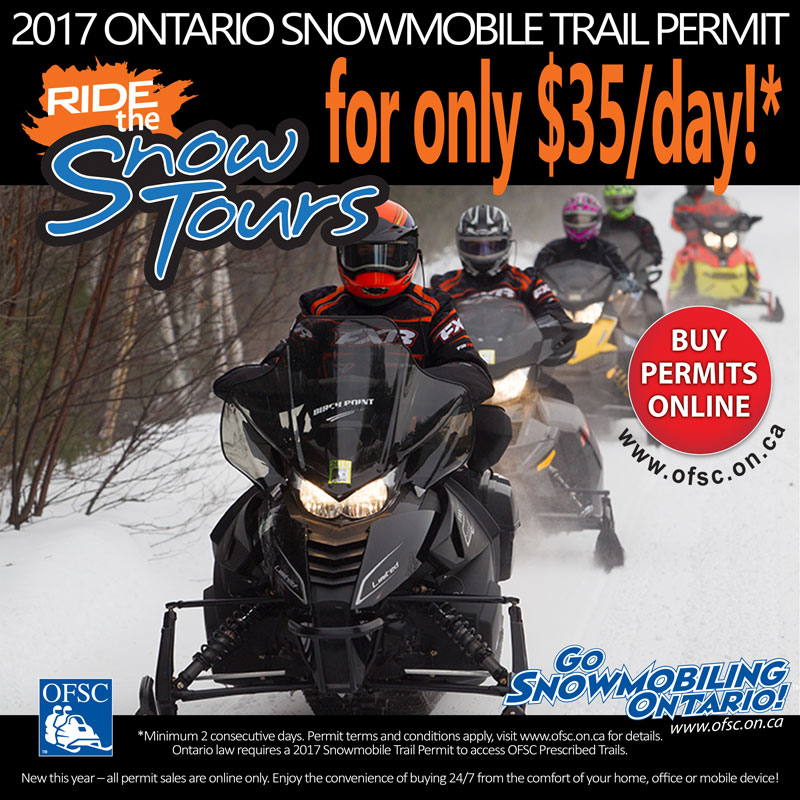 Ride the OFSC trail Snow Tours for $35/day!